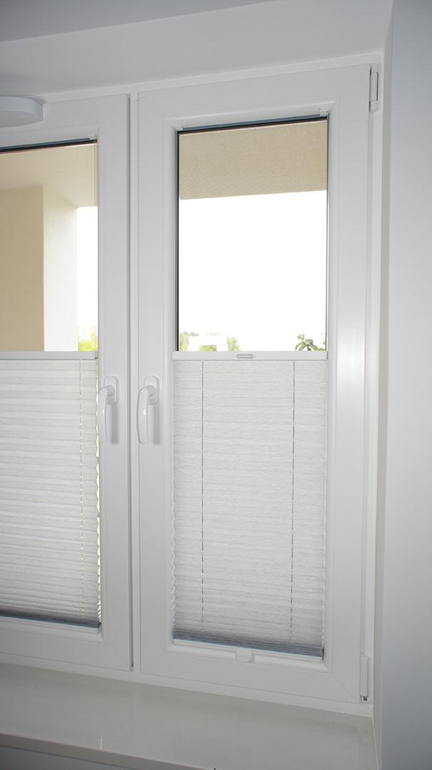 Plisy okienne biały melanż 2 9162
