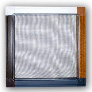 moskitiera ramkowa, kolor: biał, antracyt, orzech, złoty dąb